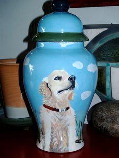 Ceramic burial PET URN Custom MEDIUM dog urn any von Anagramfineart