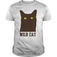 Wild Cat T Shirts, Hoodies, Sweatshirts. GET ONE ==> https://www.sunfrog.com/LifeStyle/Wild-Cat-White-Guys.html?41382