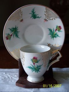 Vintage Scottish Thistle Demitasse Cup and by enchantedmistdesigns, $19.95