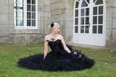 Janne and Tony's gothic wedding Cermony in Citty Hall of Villers-Sous-Saint-Leu, France Strapless Dress Formal, Formal Dresses, Gothic Wedding, France, Fashion, Dresses For Formal, Moda, La Mode, Fasion