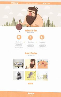 This is my personal website design based around my nickname Boney using a caveman character to represent me. Personal Website Design, Web Design, Animation, Illustrations, Design Web, Illustration, Site Design, Motion Design, Illustrators