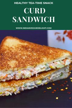 Curd Sandwich Yogurt Sandwich Dahi Sandwich is a healthy, creamy and wholesome sandwich loaded with fresh vegetables Lunch Box Recipes, Veggie Recipes, Indian Food Recipes, Snack Recipes, Bread Sandwich Recipe Indian, Veggie Food, Vegetarian Recipes, Tea Time Snacks, Healthy Lunches For Kids