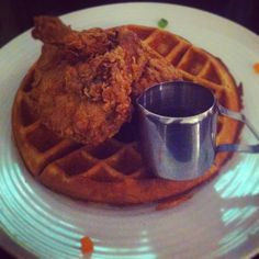 Soul food- Chicken and waffles..try some of the waffle/pancake recipes in the…