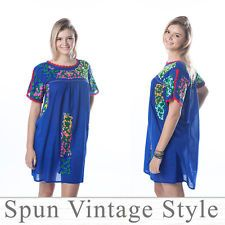 dc4ddfb834 Items in Spun vintage style store on eBay! Embroidered  DressesMexicanEmbroidery Dress. Mexican Oaxacan style Floral Hand-embroidered  Boho Ethnic Peasant ...
