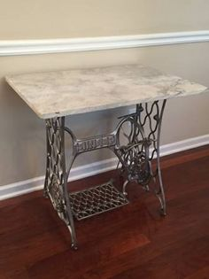 Unique Marble top Entry Table