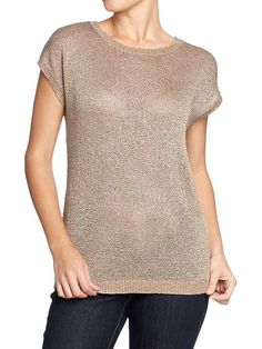 Old Navy short sleeve sweater w/ sequins