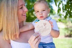 Tell the family there's a new baby on the way with Bebe au Lait's Wooden Keepsake Milestone Discs Baby On The Way, New Baby Products, Brother, How To Memorize Things, In This Moment, Memories, Celebrities, Beautiful, Bebe