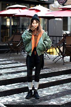 Shin Nahyung, Street Fashion 2017 in SEOUL