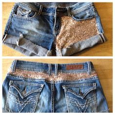 Sequin shorts champagne custom redesign short size 0, 1, 2, 3, 4, 5, 6, 7, 8, 9, 10, 11, 12, 13, 14, 15, 16 sparkles summer OOAK on Etsy, $45.00