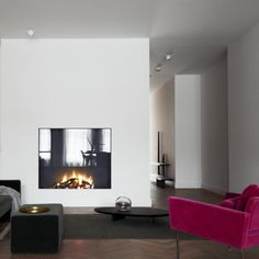 realised project: a fireplace in a interior designed by Ruud van Oosterhout