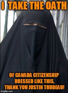 An image tagged burka wearing muslim women Political Memes, Politics, The Twits, Justin Trudeau, Wtf Fun Facts, Muslim Women, Things To Know, Wake Up, Canada
