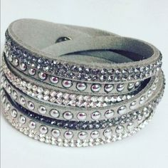 New Beautiful Wrap Bling Bracelet Gray Beautiful Wrap Bracelet wear alone or layered with another. Looks great worn with a watch as well. Jewelry Bracelets