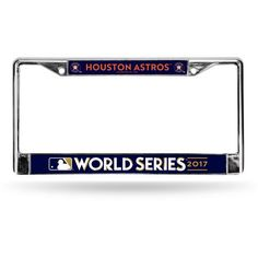 Rico Astros World Series Bound Chrome License Plate Frame (Navy, Size ) - Pro Licensed Product, Pro License Cap/Novelty Events at Academy Sports