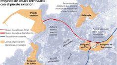 El poliducto de Repsol en Langosteira variará su trazado por las vías del tren