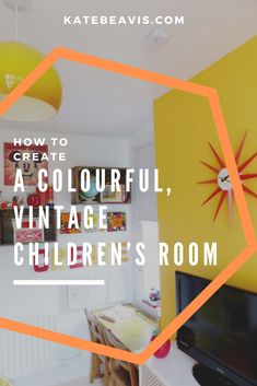 A colourful, vintage children's room - Kate Beavis Vintage Expert Vintage Boys, Vintage Children, Ikea Units, Shallow Shelves, Teenage Room, Yellow Walls, Playrooms, Kidsroom, House Rooms