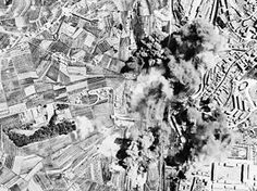 Allie Aerial bombing of rail yards at Siena, Italy during Operation Strangle.  The most accurate bombing of WWII.  Aerial bombing of rail yards at Siena during Operation Strangle, a series of air operations during the Italian Campaign of World War II by the United States Fifteenth and Twelfth Air Forces to interdict German supply routes in Italy north of Rome. On the alternate line from Pisa and Florence south to Rome, the Siena yards were bombed by Mediterranean Allied Air Force Bombers