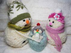 Pom pom snowmans, craft