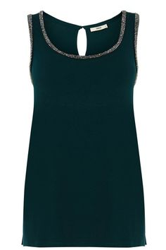 Add some (much needed) glamour to your basics this season with our Encrusted Trim Vest.  Perfect dressed up or down.