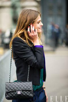 Street Chic: Paris  Elisa Sednaoui in Haider Ackermann and a Chanel bag  Photo:Adam Katz Sinding/Le 21ème Arrondissement