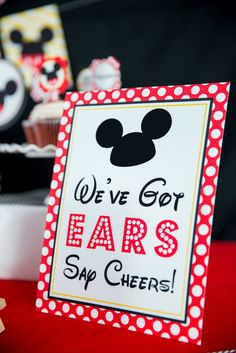 Mickey Mouse Clubhouse Birthday Party, Mickey Mouse Parties, Boy Birthday Parties, Birthday Ideas, Disney Parties, Mickey Mouse Party Decorations, Mickey Mouse Games, Mickey Mouse Centerpiece, Elmo Party