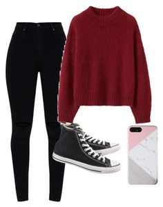 """""""Outfit"""" by fangirlmendes on Polyvore featuring Converse"""