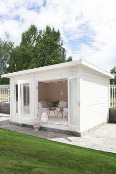 Folkefavoritten Grimstad Anneks - Byggmakker.no Cozy Home Office, Terrazzo, Cozy House, Garden Inspiration, Fresco, Guest Room, Outdoor Gardens, Shed, New Homes