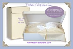 Do not let your dry cleaner pack your wedding dress and other family memories in a cheap box full of acid. Use a Foster-Stephens' archival box. We have been preserving memories for families since Wedding Dress Preservation, Wedding Expenses, Family Memories, Wedding Rings For Women, Box Design, Preserves, Big Day, The Fosters