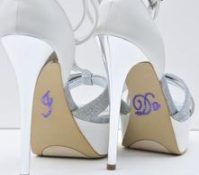 Unik Occasions - Crystal Rhinestone I Do Wedding Shoe Stickers - Purple
