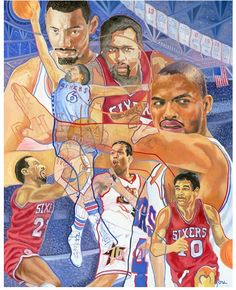 Philadelphia 76ers - Super Sixers by PERRYMILOUPOPART on Etsy, $99.00 #Philly #Art #Sixers