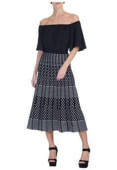 LE LIS BLANC - Saia tricô mídi Priscila - OQVestir