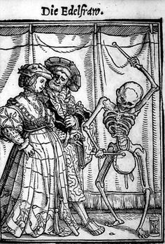 Hans Holbein the Younger, La Danza Macabra XXXV/IL - La Contessa xilografia Memento Mori, Dance Of Death, Medieval Art, Renaissance Art, Medieval Drawings, Renaissance Paintings, Medieval Fantasy, La Danse Macabre, Hans Holbein The Younger