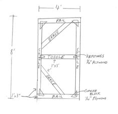 Freestanding Wall Brace For Set The Walls Of A