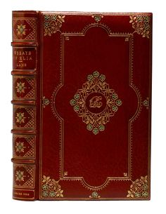 First edition Elia Essays by Charles Lamb with  Cosway-style binding by Sangorski & Sutcliffe. (BRB 80867)