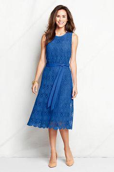 Women's Sleeveless Lace Column Dress | Lands' End $129