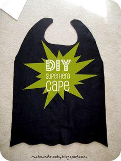 DIY no sew super hero cape!!