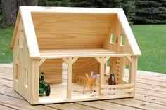 Wood Barn by simplertimestoys on Etsy