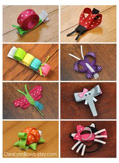 Creature Collection Choose 8 Ribbon Sculpture by ClaraLynnBows