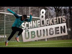 8 SCHNELLIGKEITSÜBUNGEN FUßBALL (ALLEINE UND OHNE GERÄTE) - YouTube Football Drills, Trainer, Videos, Cinema, Soccer, Health, Youtube, Sports, Inspiration