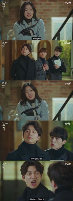 What even is this kdrama without Goblin and Grim Reaper bickering and teasing each other every two seconds? -i agree-this is one of the best scenes in the show. Goblin Kdrama Funny, Goblin Kdrama Quotes, Goblin Funny, Korean Drama Funny, Korean Drama Quotes, Drama Korea, Boys Over Flowers, Kpop, Memes Fr