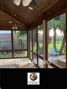 Screened in covered patio