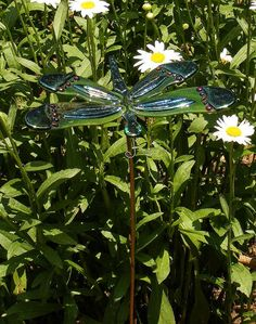 """10"""" wide & 6"""" long. Awesome ;) Mo  Kirks Glass Art Fused Stained Glass Dragonfly by kirksglassart, $59.00"""