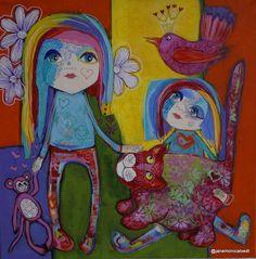 Surrealism Painting, Stavanger, Acrylic Paintings, Kittens, Walls, Ink, Children, Drawings, Cute Kittens