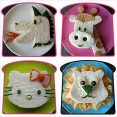 More great ideas for super fun meals or little lunchtime surprises!