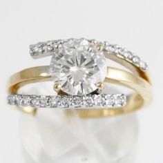 8mm Moissanite Round 3 piece Casting w/diamond 2 carat | Yelp