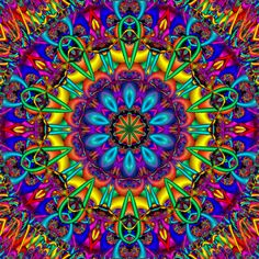 """༺✺❥Charmeleon Collections❥✺༻  """"Colour my World in Rainbows!""""  Rainbow colored mandala."""
