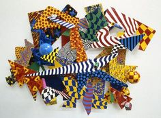 Modern abstract colorfully painted multi level metal wall sculptures by Los Angeles sculptor Bruce Gray. Cardboard Sculpture, Metal Wall Sculpture, Cardboard Art, Wall Sculptures, Sculpture Art, Group Art Projects, Collaborative Art Projects, Auction Projects, Stella Art