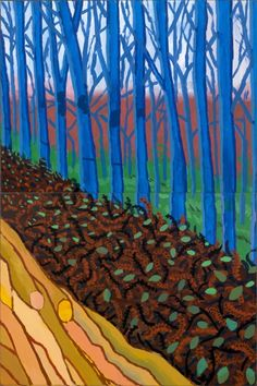 Decisive-gestures: David Hockney Winter Timber (detail) 2009 Oil on 15 canvases 108 x 240 in. See the complete work here. Or better still, visit the Royal Academy of Arts (on now until 9 April David Hockney Landscapes, David Hockney Art, David Hockney Paintings, Robert Rauschenberg, Landscape Art, Landscape Paintings, Goddess Of The Hearth, Pop Art Movement, Royal Academy Of Arts