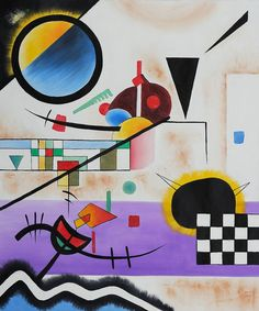 Wassily Kandinsky, Contrasting Sounds, 1924.                                                                                                                                                                                 More