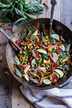 Thai Steak Salad w/Sweet + Spicy Tahini Dressing and Sesame Chili-Lime Cashews | halfbakedharvest.com