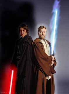 Anakin and Obi-Wan 2 of the most ferocious Jedis. Obi Wan is the most dangerous. Cunning and literally fear less! Anakin the most powerful.